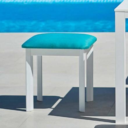 Varaschin System trädstol i stoppat tyg och aluminium