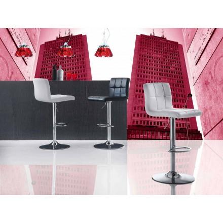 Lyftpall för modern design, Eco-lädersits - Delfina