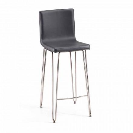 Design pall med hög rygg Carlo, H 97 cm, tillverkad i Italien