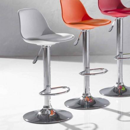 Modern designpall i polypropen och lyftbar - Rosa