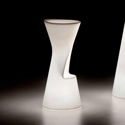 Lysande utomhuspall i polyeten med LED Made in Italy - Desmond