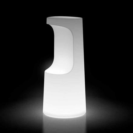 Lysande utomhuspall i polyeten med LED-ljus Tillverkad i Italien - Forlina