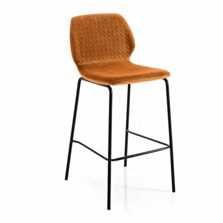 Modern design färgad quiltad sammet kökspall - Scarat