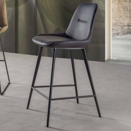 Modern pall H 80 cm, Seat i Eco-läder Nabuk - Ines