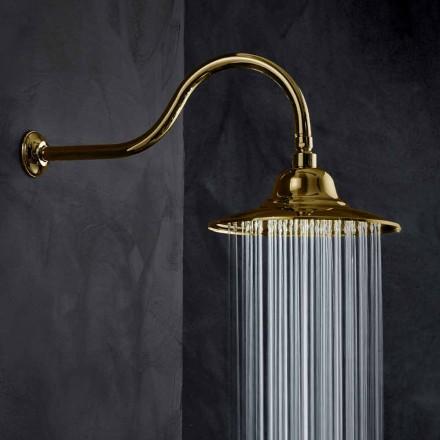 Klassiskt duschhuvud av stål med duscharm i mässing Tillverkad i Italien - Jeko