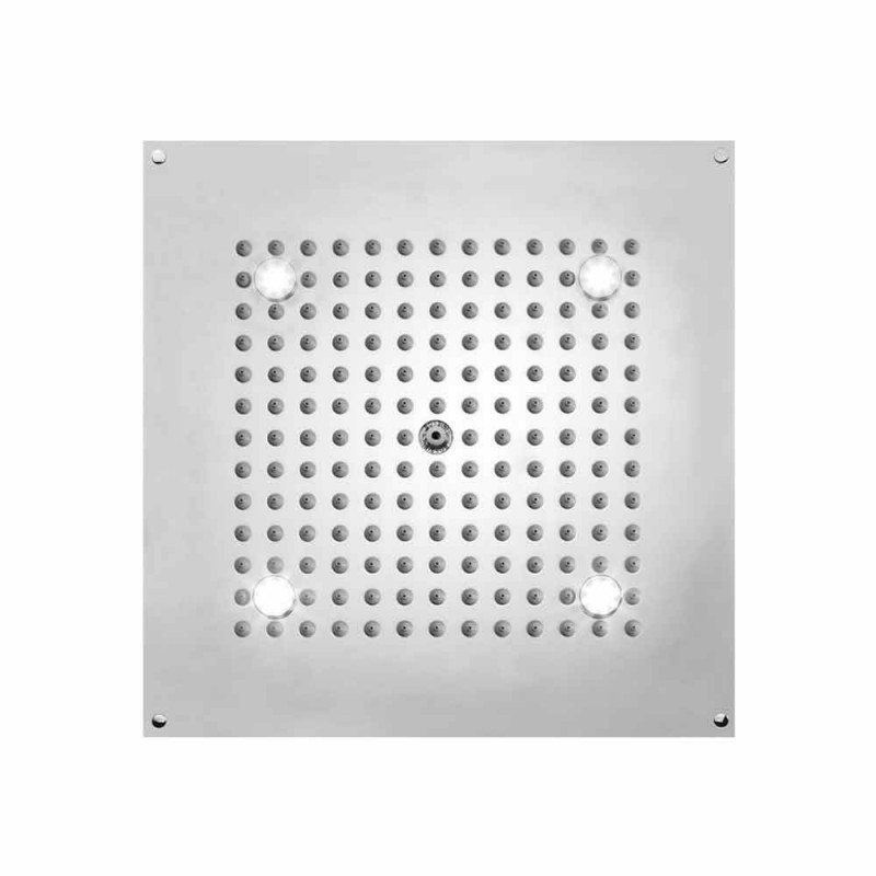 Square duschhuvud med LED-lampor till en jet Bossini