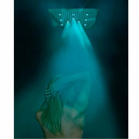 Takdusch huvudet med färgterapi och två strålar dröm Neb