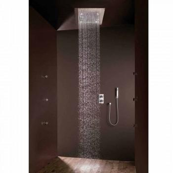 Duschhuvud med regn jet modern design och LED-lampor