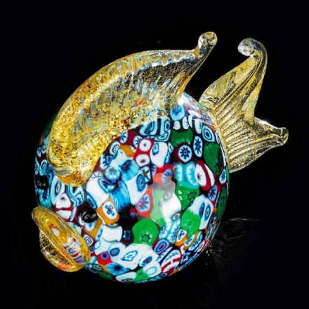 Puffer Fish Shaped Ornament in Murano Glass Made Italy - Fatimo