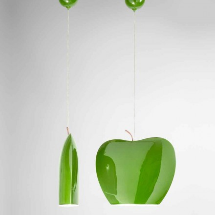 Suspension i keramik av Apple-formad design - frukter Aldo Bernardi