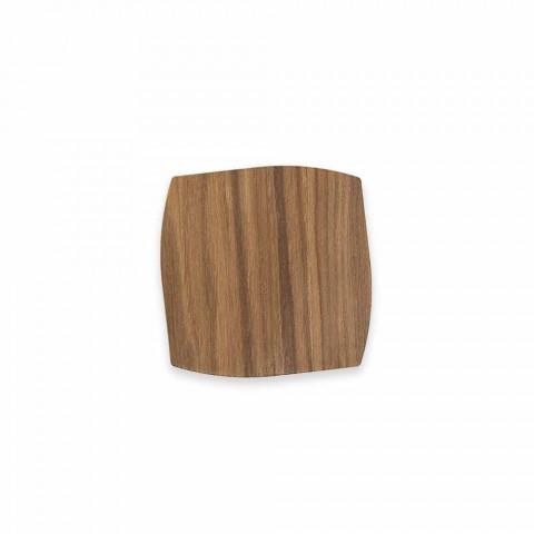 Modern fyrkantig träkust tillverkad i Italien - Abraham