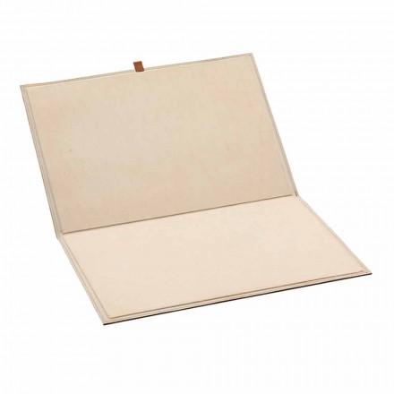 Öppningsbart designbord i regenererat läder tillverkat i Italien - Aristoteles