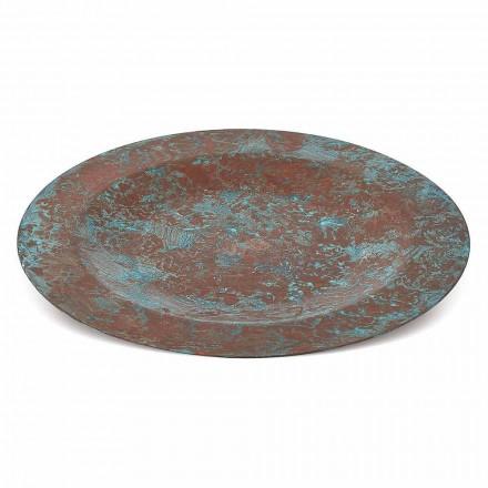 Handtinnad kopparbricka i grön eller brun kopp 6 delar 28 cm - Rocho