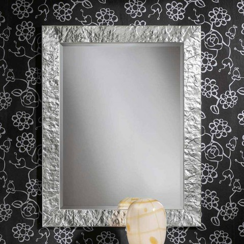 Handgjord Antonio Antonio gran trä silverguldmuren spegel