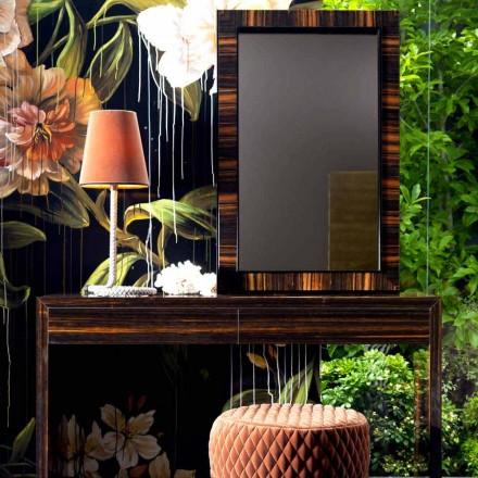 Väggmonterad spegel / ebenholts trä Grilli Zarafa gjord i Italien