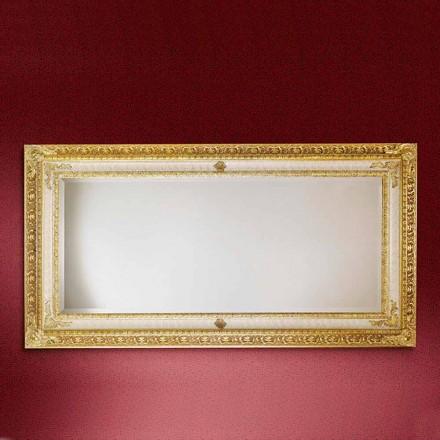 Rektangulär träväggspegel tillverkad i Italien Raphael