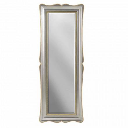 Silver, elfenben och guldspegel spegel gjord i Italien Vittorio