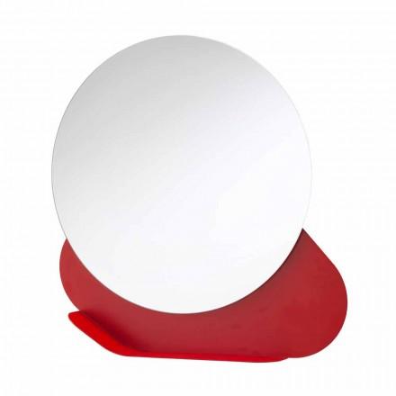 Väggspegel med metallhylla i olika färger Modern design - Hera