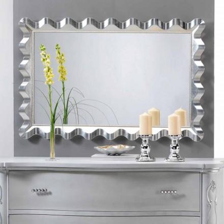 Spegel av modern design vägg dekorerad med pärlor Lane