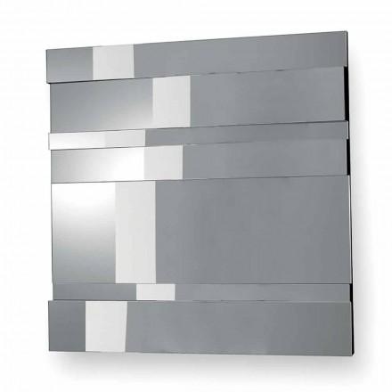 Väggspegel i modern design i glas och metall tillverkad i Italien - Pallino