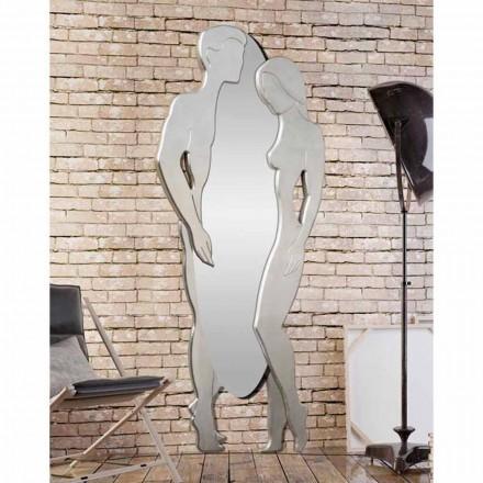 Man & Kvinna modern design Mdf väggspegel formad för hand