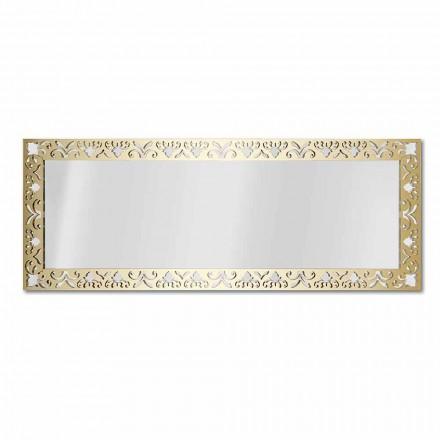 Väggspegel i plexiglas guld eller brons med ram - nektar