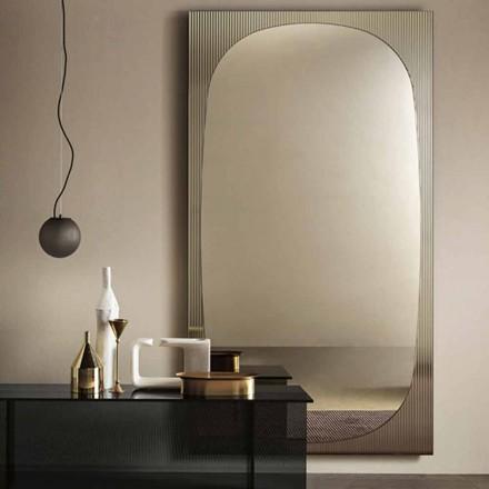 Modern väggspegel med bronsspegel tillverkad i Italien - Bandolero