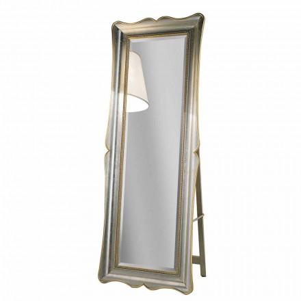 Ayous trägolv spegel med piedestal gjord i Italien Jonni