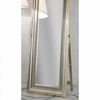 Fir trägolv spegel med piedestal gjord i Italien Jonni