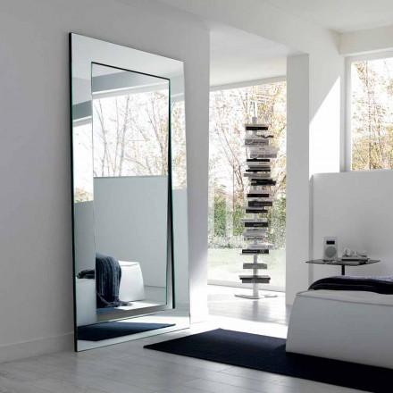 Rektangulär modern design fristående spegel tillverkad i Italien - Salamina