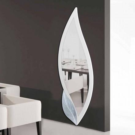 Design spegel i form av elfenben kronblad och Ellen silver