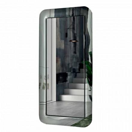 Designspegel med ram av kristalleffektglas tillverkad i Italien - ögla
