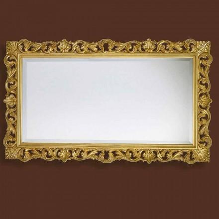 Spegel i modernt handarbetat trä producerat i Italien Nicol