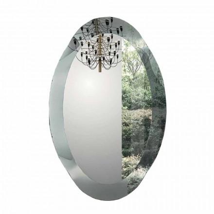 Oval designspegel i speglad kristallfinish tillverkad i Italien - Eclisse