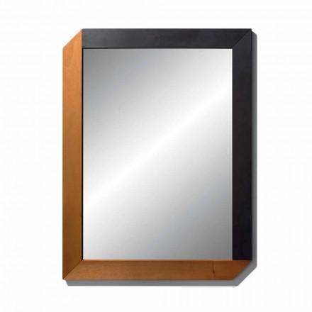 Rektangulär spegel med träram av Made in Italy Design - Cira