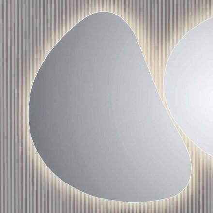 Spegel badrumsvägg med LED-bakgrundsbelysning Pirro