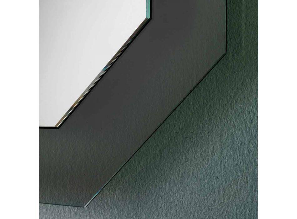 Modern design väggspegel med glasram och integrerad LED - Vitozzo