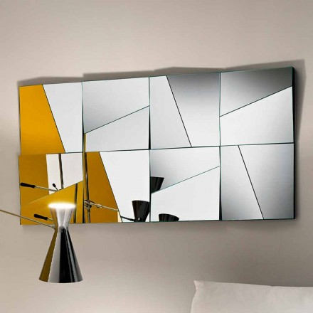 Modular Wall Mirror with Concave and Convex Mirrors Made in Italy - Allegria