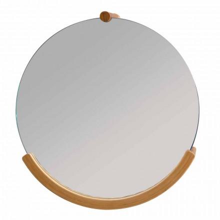 Väggmonterad badrumspegel med en Gorizia bamburam