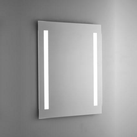 Polerad trådspegel med LED-bakgrundsbelysning Made in Italy - Tony