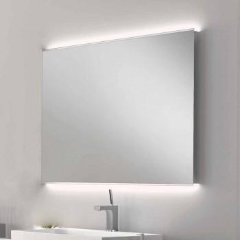 Badrumsspegeln med modern design LED-ljus med frostat kanter Veva
