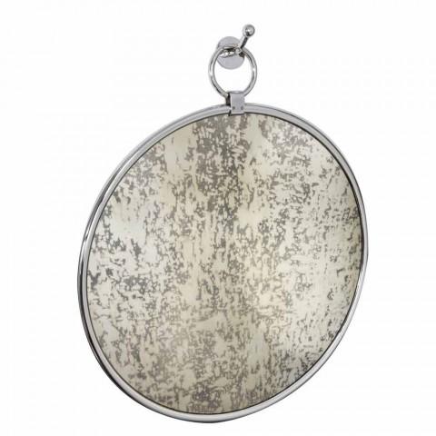 Badrumsspegel med rund vägg i krom Ottome med åldrig rygg - juni