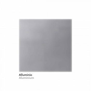 Badrumsspegel i imiterad aluminium med bakgrundsbelysning tillverkad i Italien - Palau