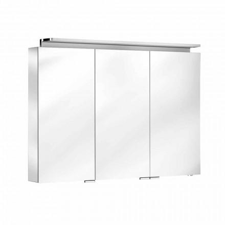 Badrumsspegel med 3-dörrsväggsenhet med invändiga hyllor - Bramo