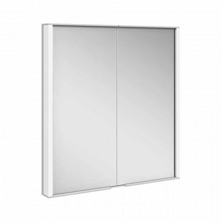 Spegelskåp i silvermålad aluminium, modern - demon
