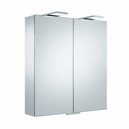 Lyxig väggspegel med 2 dörrar och LED-belysning - Ratchet