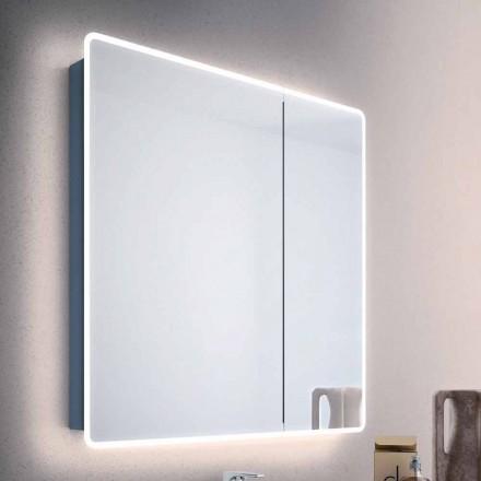 Mirror modern behållare 2 badrum dörrar, med LED-lampor, Valter