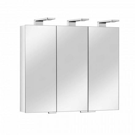 Spegelbehållare med 3 kristalldörrar och 3 LED-lampor, Precious - Maxi