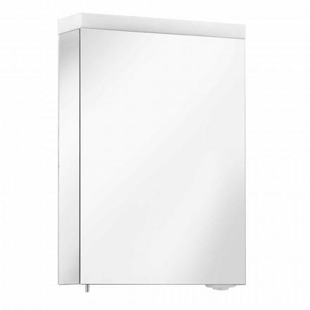 Spegelbehållare med gångjärnsdörr och LED-belysning, hög kvalitet - Alfio