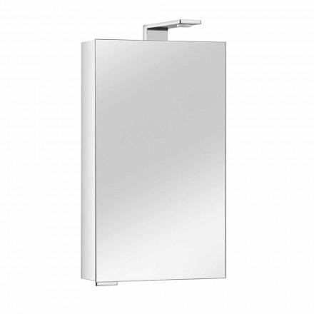 Spegelskåp med kristalldörr och kromdetaljer, modernt - Maxi